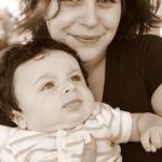 maman et bébé pour baptême