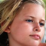 portrait fillette blonde