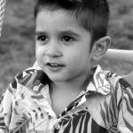 shooting photo enfant noir et blanc