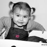 photo de bébé avec couettes