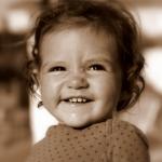 photo fillette sépia
