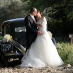 photo de mariage en traction