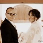 photo mariés mairie sépia