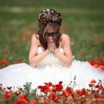 photo de mariée émue en provence