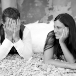 photo de jaune couple marié