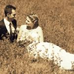 photo sépia de mariage