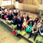 convoi de mariage sur tracteur