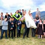 photo de mariage dans nature