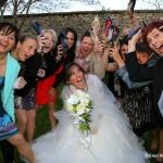 photo de groupe mariée