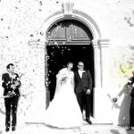 jeunes mariés sortie de mairie