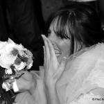 mariée sur le vif noir et blanc