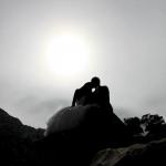photo de mariage couché du soleil
