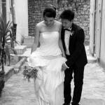 mariés chinois dans la rue