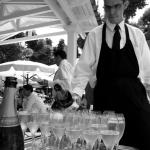 coupes champagne et traiteur