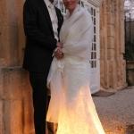 photo de mariage robe éclairée