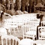 photo de mariés sépia