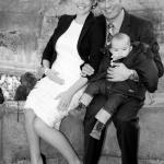 photo de mariage couple bébé