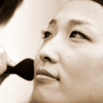 mariée maquillée photo portrait