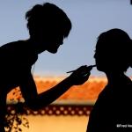 ombres chinoises préparatifs mariée