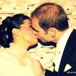 baiser des mariés franco-allemands