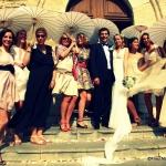 photo de mariage ombrelles rétro