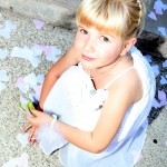 photo de petite fille d'honneur