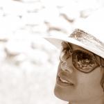 portrait sépia chapeau