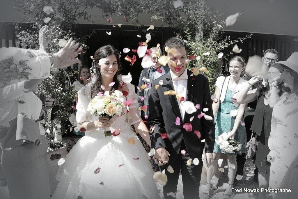 mariage confettis mairie