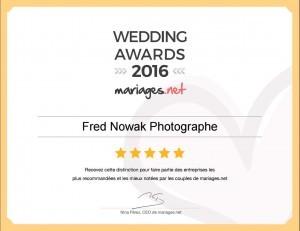 WEDDING AWARDS 2016 FRED NOWAK PHOTOGRAPHE DE MARIAGES AIX EN PROVENCE
