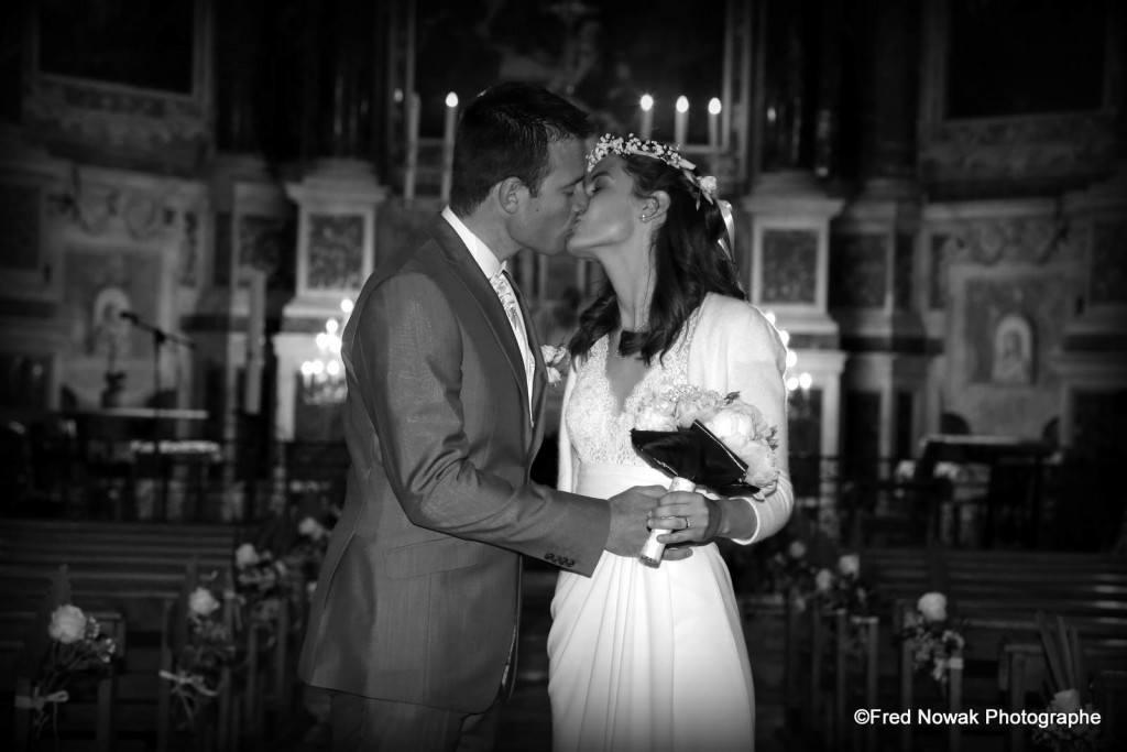 baiser photo de mariage